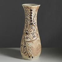 """Ваза напольная """"Осень"""" плетение, коричневая, 58 см, керамика"""