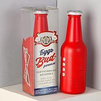 Портативная колонка 'Бутылка', красная, модель ES-01, 22,1 х 7 см