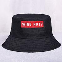 Панама Wine not, цвет чёрный