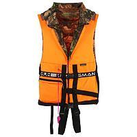 Жилет спасательный двухсторонний, цвет оранжевый/лес, размер 52-56/100 кг
