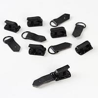 Крючки пластиковые для верхней одежды, 5 x 1,5 см, 6 шт, цвет чёрный