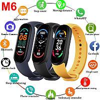 Фитнес браслет Smart Band M6 с измерением давления, пульса и кислорода в крови.
