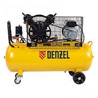 Компрессор воздушный рем. привод BCV2200/100, 2,2 кВт, 100 литров, 370 л/мин// Denzel