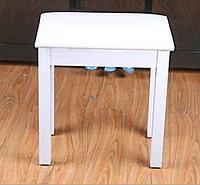 Стул/банкетка деревянная для пианино, белая
