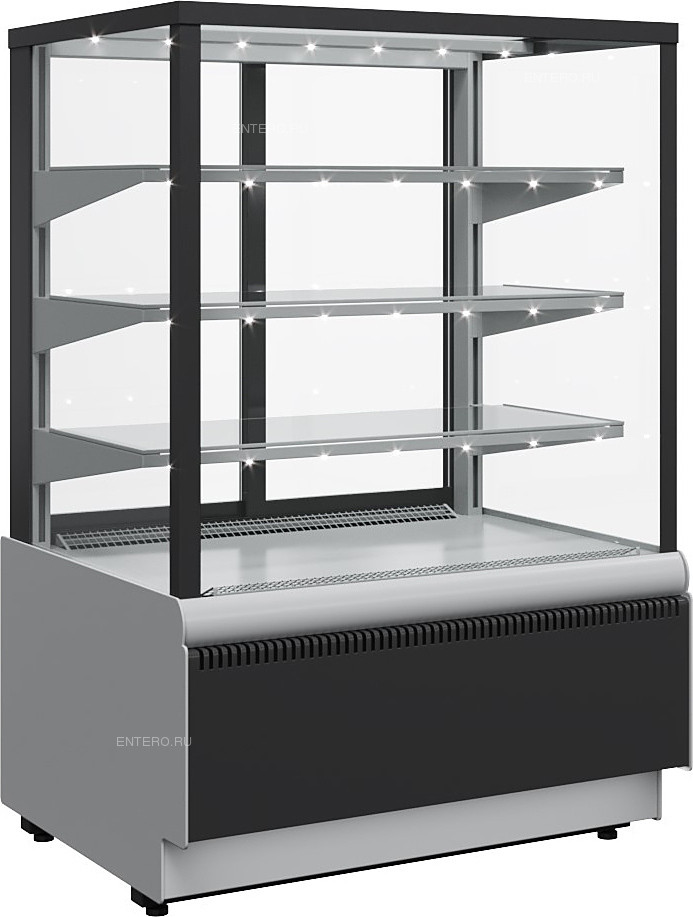 Витрина кондитерская Carboma KC70 VV 0,9-1 Standard (ВХСв - 0,9д Cube Люкс Техно)