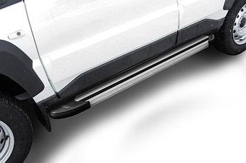 """Пороги алюминиевые """"Luxe Silver"""" 1450 серебристые Lada Niva Travel (2021)"""