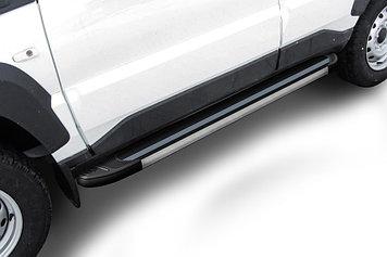 """Пороги алюминиевые """"Luxe Black"""" 1450 черные Lada Niva Travel (2021)"""