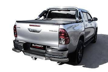 Уголки d76 серебристые Toyota Hilux (2020)