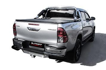 Уголки d76 черные Toyota Hilux (2020)