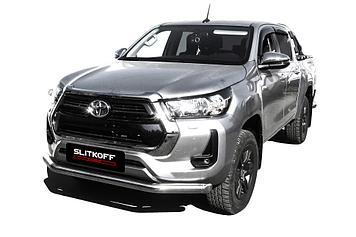 Защита переднего бампера d76 Toyota Hilux (2020)