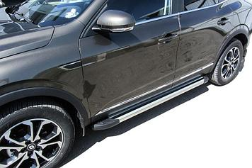 "Пороги алюминиевые ""Luxe Silver"" 1700 Renault Arkana"