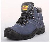 """Мужские ботинки """"Оптимус"""" нубук,цвет синий"""