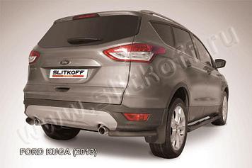 Уголки d57 черные Ford Kuga (2013)