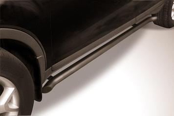 Защита порогов d57 с гибами черная Ford Kuga (2008)