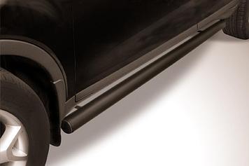 Защита порогов d76 труба черная Ford Kuga (2008)