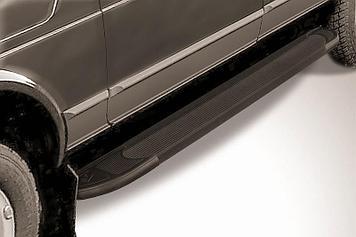 """Пороги алюминиевые """"Optima Black"""" 1700 черные Lada 4x4 (ВАЗ 21213 NIVA 5-дверная)"""
