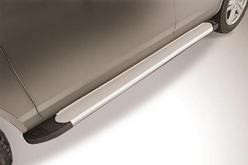 "Пороги алюминиевые ""Optima Silver"" 2000 серебристые Volkswagen Touareg (2013)"