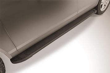 """Пороги алюминиевые """"Optima Black"""" 2000 черные Volkswagen Touareg (2013)"""