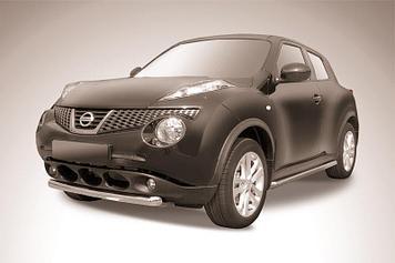 Защита переднего бампера d57 короткая Nissan Juke 4WD (2011)