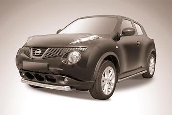 Защита переднего бампера d76 короткая Nissan Juke 4WD (2011)