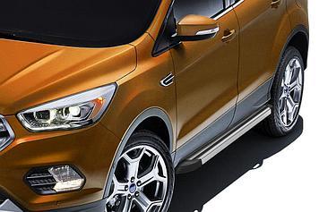 "Пороги алюминиевые ""Luxe Silver"" 1800 серебристые Ford Kuga (2016)"