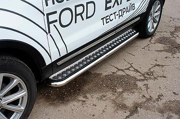 Защита порогов d57 с листом Ford Explorer (2015)