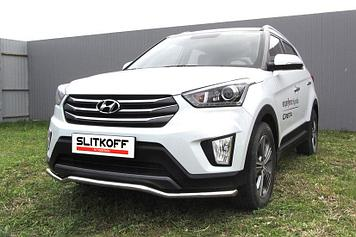 """Защита переднего бампера d42 """"Волна"""" Hyundai CRETA 4WD 2016"""