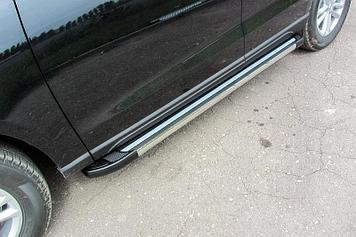 """Пороги алюминиевые """"Luxe Black"""" 1800 черные Zotye T600"""