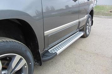 Пороги алюминиевые Standart Silver 1600 серебристые на Chery TIGGO-3 (2017)