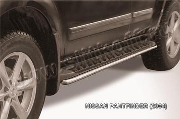 Защита штатного порога d42 Nissan Pathfinder R51