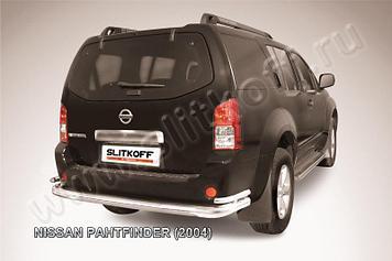 Защита заднего бампера d76+d42 двойная Nissan Pathfinder R51