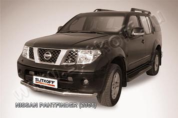 Защита переднего бампера d76 Nissan Pathfinder R51