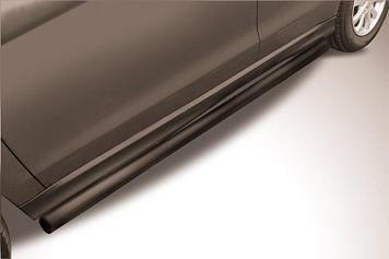 Защита порогов d57 труба черная Mitsubishi ASX (2014)
