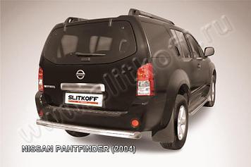 Защита заднего бампера d76 Nissan Pathfinder R51