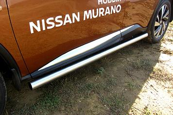 Защита порогов d76 труба Nissan Murano (2016)