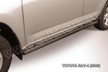 Защита порогов d57 труба черная Toyota RAV4 (2009)