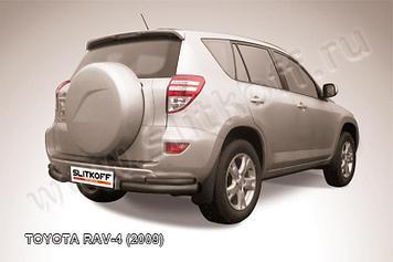 Уголки d76+d42 двойные черные Toyota RAV4 (2009)