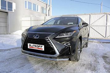 Защита переднего бампера d57 Lexus RX-350 (2015)