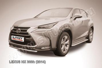 Защита переднего бампера d57 короткая Lexus NX 300h