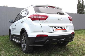 Уголки d42 черные Hyundai CRETA 4WD 2016
