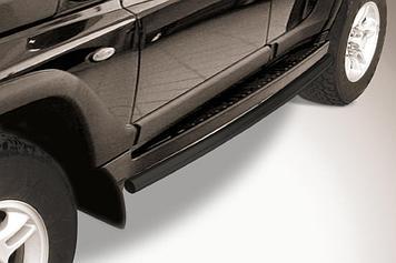 Защита штатного порога d57 черная TAGAZ TAGER 5 doors