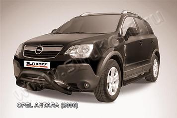 Кенгурятник d76 низкий черный Opel Antara