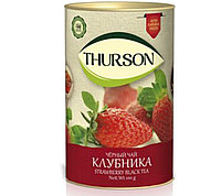 Чай черный Клубника Турсон Thurson, 100г (тубус)