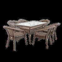 """Ротанговая мебель DEKO """"Комплект обеденный стол + кресла""""."""