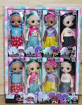 LL572 Маленькие куклы 4 вида из 16 шт, цена за 1шт, 17*6