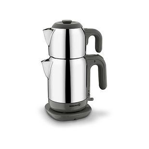 Турецкий электрический чайник/самовар Korkmaz Demtez Satin/серый 1,1 л, и 1,6 л