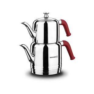 Набор турецких чайников Korkmaz Riva Red  1,1л + 1,9л