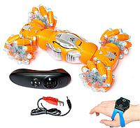 Машина вездеход Twisting Car с управлением жестами оранжевый