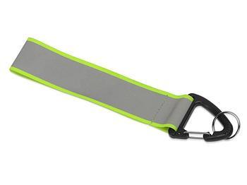 Светоотражающий брелок Reflector, серебристый/зеленый