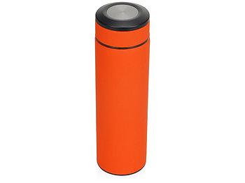 Термос Confident с покрытием soft-touch 420мл, оранжевый
